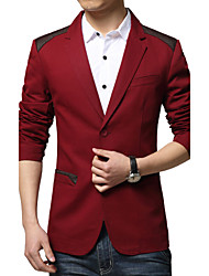 cheap -Men's Fashion Casual Splice Two Button Slim Suit