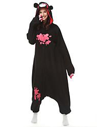 Kigurumi Pajamas Bear Raccoon Costume Black Polar Fleece Kigurumi Leotard / Onesie Cosplay Festival / Holiday Animal Sleepwear Halloween