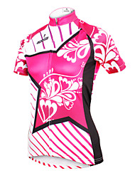 cheap -ILPALADINO Women's Short Sleeves Cycling Jersey - Yan pink Floral / Botanical Bike Jersey, Quick Dry, Ultraviolet Resistant, Breathable