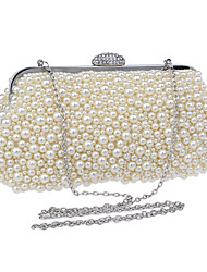 cheap -Women's Bags Polyester Evening Bag Imitation Pearl for Wedding Event/Party Formal All Seasons Champagne White Beige