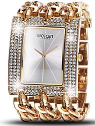 WeiQin Dámské Módní hodinky Maketa Diamant Hodiny Křemenný Voděodolné imitace Diamond Slitina Kapela Luxusní Stříbro Zlatá Růžové zlato1#