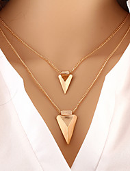 cheap -Women's Layered Necklace - Personalized Basic Fashion European Triangle Necklace For Special Occasion Birthday Gift Daily Casual