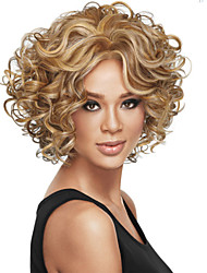 cheap -Synthetic Wig Curly Synthetic Hair Blonde / Brown Wig Women's Short Capless