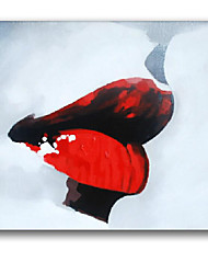 iarts® lábios vermelhos mulheres parede arte moda pintura a óleo