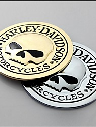 cheap -3D Metal Skull Car Sticker Car Decal Sticker Moto Motorcycle Automobile Styling
