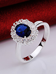 cheap -Women's Crystal / Zircon / Copper Princess Statement Ring - Classic Blue Ring For Party / Party / Evening / Daily