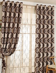 cheap -(Two Panels)Classic Jacquard Cationic Fabric Blackout Curtain(Sheer Not Included)