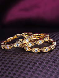 2015 Fashion 18KGP Gold Plated Noble 3pcs CZ Stone Ring Band Rings For Woman & Lady
