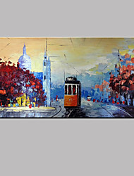cheap -Hand-Painted Famous Horizontal Panoramic, Modern Canvas Oil Painting Home Decoration One Panel