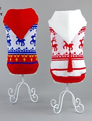 cheap -Cat Dog Sweater Hoodie Christmas Dog Clothes New Year's Reindeer White Red Costume For Pets