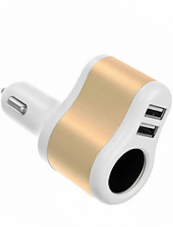 cheap -2 USB Ports Multi Ports Other Car Charger Charger Only For iPad / For Cellphone5V , 1A / 2.1A)