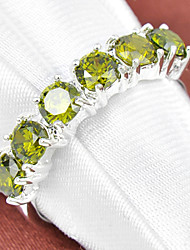 abordables -Femme Bagues Affirmées Diamant synthétique Strass Plaqué argent Topaze Forme de Cercle Forme Géométrique Bijoux Mariage Soirée Quotidien