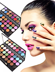 24 Colors Lidschattenpalette Matt Lidschatten-Palette Puder Set Alltag Make-up / Feen Makeup
