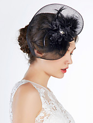 tulle fuglkage slør hovedstykke bryllupsfest elegante feminine stil