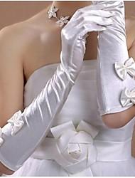 cheap -Satin Elbow Length Glove Bridal Gloves