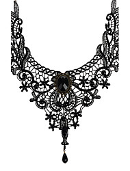 cheap -Women's Lace Choker Necklace Pendant Necklace - Vintage Bridal Jewelry Black Necklace For Wedding Party Daily Casual