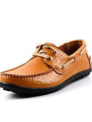 Men's Boat Shoe Driving Shoe Formal Shoe Comfort Spring Fall Real Leather Cowhide Wedding Casual Outdoor Office & Career Party & Evening