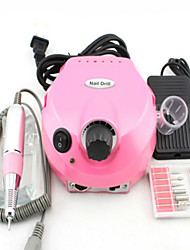 Electric Nail Drill With 6 Nail Drill Bits & Foot Pedal Nail Manicure Machine For Polish EU, US, AU & UK Plug