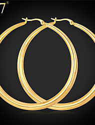 cheap -Women's Hoop Earrings - Stainless Steel Vintage, Party, Work Gold / White For Daily / Daily Wear