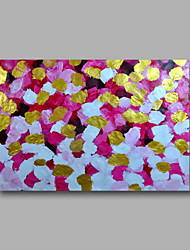 "cheap -Ready to hang Stretched Hand-Painted Oil Painting 36""x24"" on Canvas Wall Art Abstract Heavy Oils Pink Glolden"
