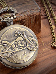 Unisex  Motorcycle Style  Alloy Analog Quartz Pocket Watch (Bronze) Cool Watch Unique Watch Fashion Watch