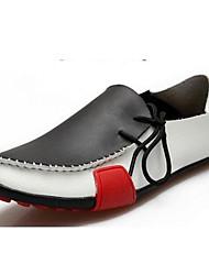 ราคาถูก -รองเท้าสตรี-รองเท้า Oxfords-สำนักงานและอาชีพ / ไม่เป็นทางการ-ความสะดวกสบาย-แน๊บป้า Leather-ส้นแบน-สีดำ / สีน้ำตาล