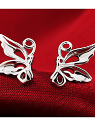 Lureme®  Korean Fashion Sweet 925  Sterling Silver Lovely Little Butterfly Earrings