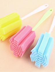 Недорогие -Бутылка Кубок губка для мытья стекол кухонные инструменты очистки стиральная случайные цвета новая