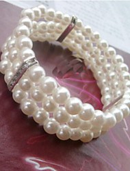 cheap -Women's - Imitation Pearl, Silver Cuff, Strand, Classic Bracelet For Wedding / Party / Special Occasion / Anniversary / Engagement / Gift / Daily / Casual