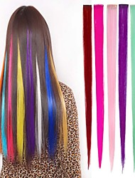 cheap -Long Synthetic Straight And Clip in Hair Extensions with 1 Clips 6 Color Available