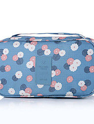 Travel Toiletry Bag Travel Luggage Organizer / Packing Organizer Portable Travel Storage for Clothes Bras Nylon / Floral