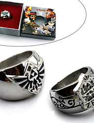 cheap -Jewelry Inspired by The Legend of Zelda Cosplay Anime/ Video Games Cosplay Accessories Ring Blue / Silver Alloy Male