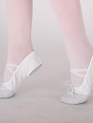 abordables -Chaussures de danse (Noir / Rose / Rouge / Blanc) - Non Personnalisables - Talon Plat - Toile - Ballet
