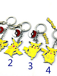 Cosplay Accessories Inspired by Pocket Little Monster PIKA PIKA Anime Cosplay Accessories Keychain Yellow Alloy Male Female