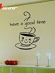 New Coffee Pattern  Have A Good Time Kitchen Wall Sticker Home Decor Vinyl Wall Decal