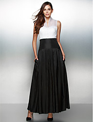 A-Line V-neck Ankle Length Organza Taffeta Formal Evening Dress with Buttons by TS Couture®