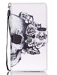 For Huawei Case / P8 Lite Wallet / Card Holder / with Stand Case Full Body Case Skull Hard PU Leather Huawei Huawei P8 Lite