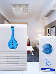 cheap -Melody Wireless Remote Control Transmitter + Receiver Doorbell Set - White + Blue