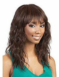 cheap -Hot Sale  Women Lady Synthetic Brown Color Hair Wave  Wig To  African