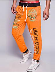 economico -Per uomo Attivo Moda città Cotone Largo Attivo Pantaloni della tuta Chino Pantaloni - Alfabetico