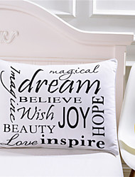 Inspirational Language Body Pillowcase Positive Energy Bedding for Your Kids Pillow Case 50cmx75cm 2Pcs/Pair