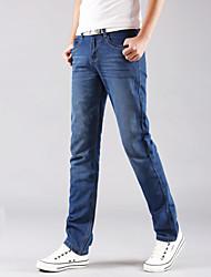 AOLONGQISHI® Men's Pure Long Sleeve Pant , Cotton / Denim Casual 2001