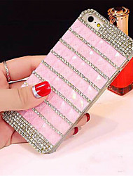 cheap -Case For Apple iPhone 6 iPhone 6 Plus Rhinestone Back Cover Lines / Waves Hard PC for iPhone 6s Plus iPhone 6s iPhone 6 Plus iPhone 6