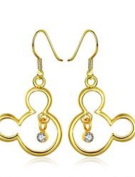 Tropfen-Ohrringe Aleación Strass Platiert vergoldet Rose Gold überzogen 18K Gold Weiß Golden Gold/Rosa Schmuck Party Alltag Normal 2 Stück