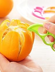Ziqiao Dexterous laranja limão fruta cascas (cor aleatória) 1pc, cozinha ferramenta
