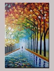árvores caminhada pintados à mão paisagem abstrata pintura a óleo moderna faca com moldura pronto para pendurar