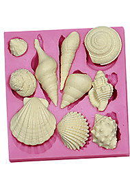 cheap -3D Marine Animal Shell Silicone Fondant Cake Molds Chocolate Mould SM-091