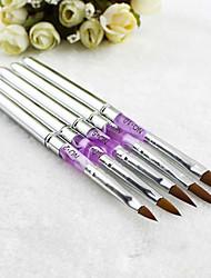 economico -5 pezzi Akrilik uv del gel, nail art desain pena, polacco Sikat Lukisan kit manicure alat