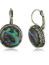 cheap -Natural Color Shells Circular Pendant Earrings Bohemia Decorated