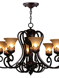cheap -Ecolight® Chandeliers/Pendant Lights/8 Lights/ Vintage/Country/Island Living Room/Bedroom/Dining Room/Metal+Glass